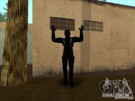 Um personagem do jogo Tron: Evolution para GTA San Andreas