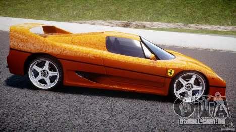 Ferrari F50 para GTA 4 esquerda vista