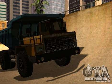 BELAZ 540 para GTA San Andreas traseira esquerda vista