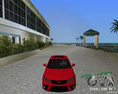 Kia Forte Coupe para GTA Vice City vista traseira esquerda
