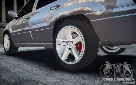 Jeep Grand Cheroke para GTA 4 vista inferior