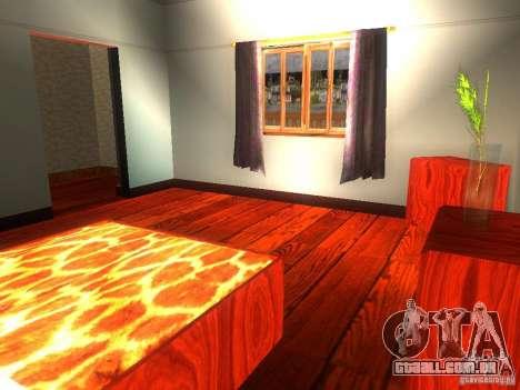 CJ em casa nova para GTA San Andreas oitavo tela