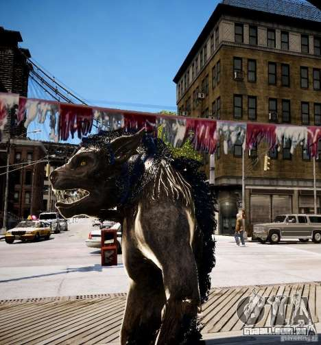 Werewolf from Skyrim para GTA 4 terceira tela