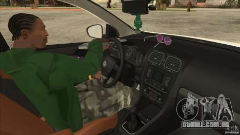 Volkswagen Golf VI 2010 Stance Nation para GTA San Andreas vista interior