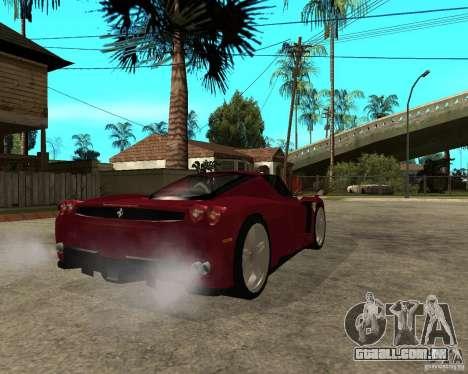Ferrari ENZO 2003 v.2 final para GTA San Andreas traseira esquerda vista