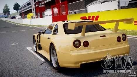 Nissan Skyline R34 v1.0 para GTA 4 traseira esquerda vista