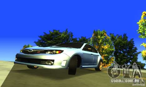 Subaru Impresa WRX STI 2008 para GTA San Andreas vista traseira