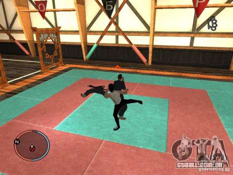 Pele de Bruce Lee para GTA San Andreas quinto tela