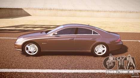 Mercedes-Benz CLS 63 para GTA 4 traseira esquerda vista