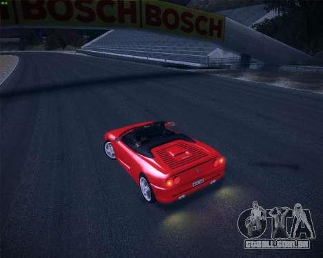 Ferrari F355 Spyder para GTA San Andreas vista interior