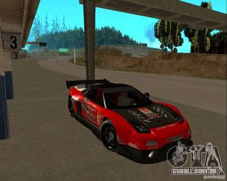 Acura NSX Sumiyaka para GTA San Andreas vista traseira