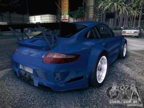 Porsche 997 GT3 RSR para GTA San Andreas traseira esquerda vista