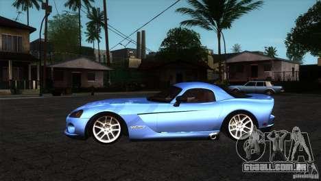 Dodge Viper SRT10 Stock para GTA San Andreas esquerda vista