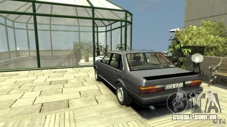 Audi 80 B2 1985 Quattro para GTA 4 traseira esquerda vista