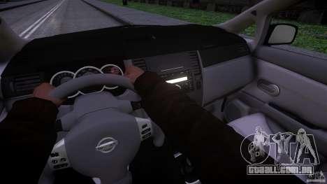 Nissan Versa para GTA 4 vista de volta