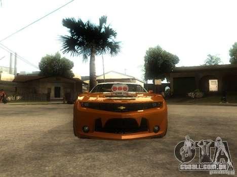 Chevrolet Camaro SS Dark Custom Tuning para GTA San Andreas vista direita
