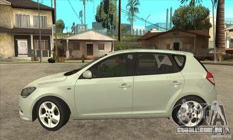 Kia Ceed 2011 para GTA San Andreas esquerda vista