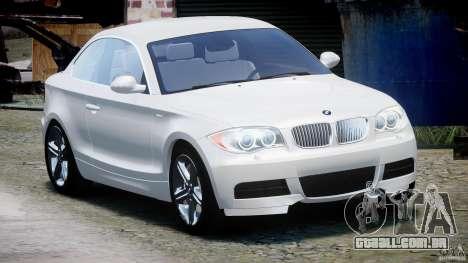BMW 135i Coupe 2009 [Final] para GTA 4 vista de volta