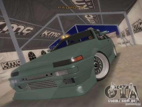 Toyota Sprinter Trueno AE86 para GTA San Andreas vista traseira