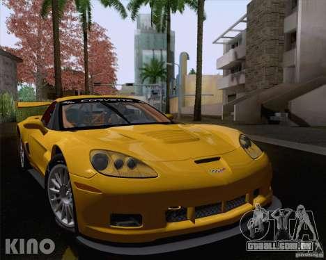Chevrolet Corvette C6 Z06R GT3 v1.0.1 para GTA San Andreas vista traseira