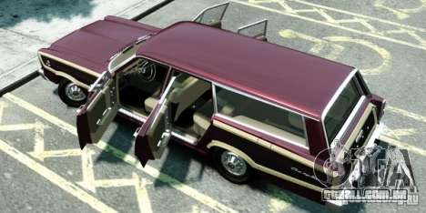 Ford Country Squire para GTA 4 traseira esquerda vista