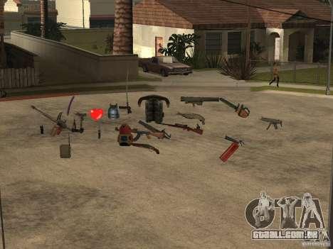 Armas para GTA San Andreas terceira tela