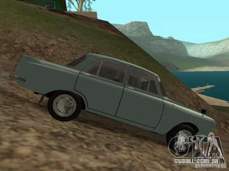 IZH 412 Moskvich para GTA San Andreas vista traseira