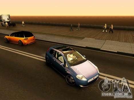 Fiat Punto Multijet para GTA San Andreas esquerda vista