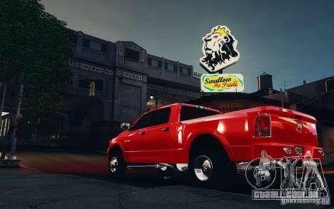 Dodge Ram 3500 Stock Final para GTA 4 traseira esquerda vista