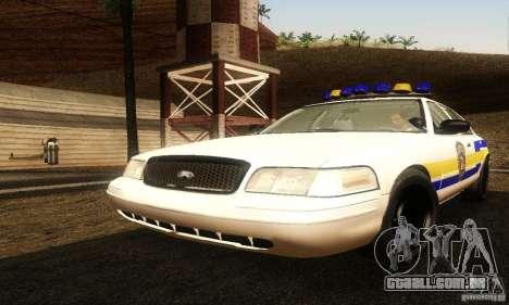 Ford Crown Victoria Puerto Rico Police para GTA San Andreas