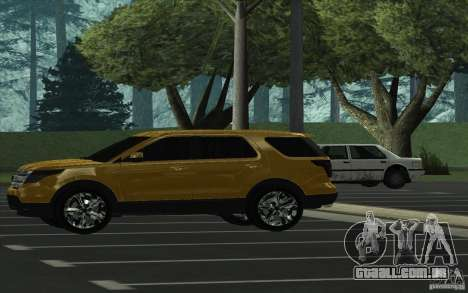 Ford Explorer Limited 2013 para GTA San Andreas esquerda vista
