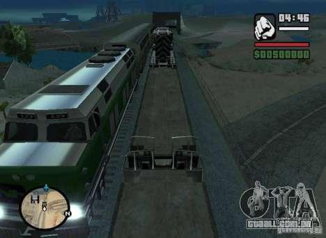 Ativação (novas rotas para trens) para GTA San Andreas esquerda vista