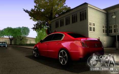 Peugeot 508 2011 para GTA San Andreas vista superior