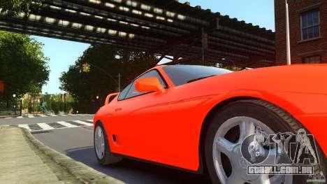 Toyota Supra para GTA 4 traseira esquerda vista