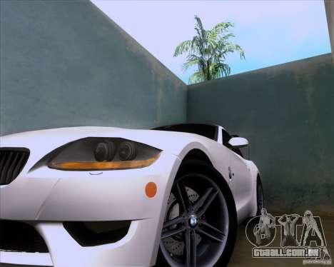 BMW Z4 M Coupe para GTA San Andreas vista interior
