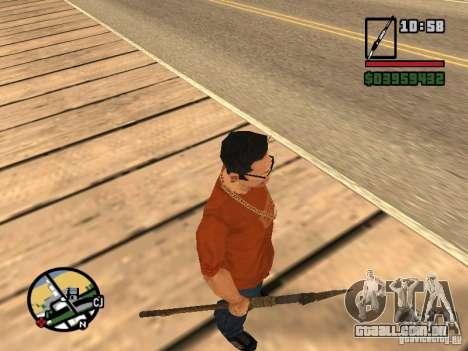 Lança para GTA San Andreas por diante tela