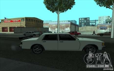 Civilian Police Car LV para GTA San Andreas vista inferior