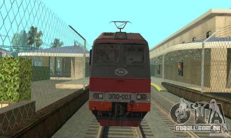 EP10 para GTA San Andreas esquerda vista
