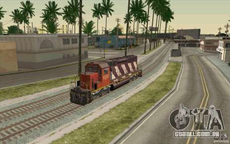 CN SD40 ZEBRA STRIPES para GTA San Andreas vista interior