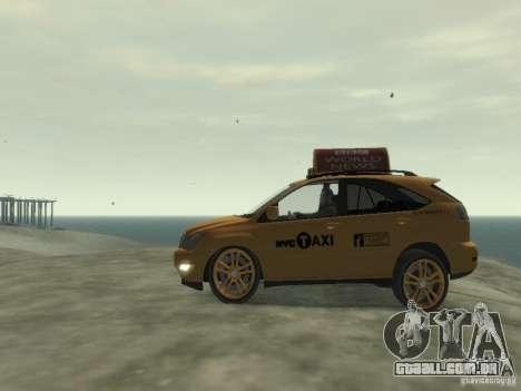 Lexus RX400 New York Taxi para GTA 4 vista de volta