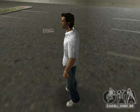 Camisa branca para GTA Vice City segunda tela