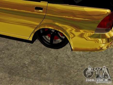 Lada 2170 Priora GOLD para GTA San Andreas vista traseira