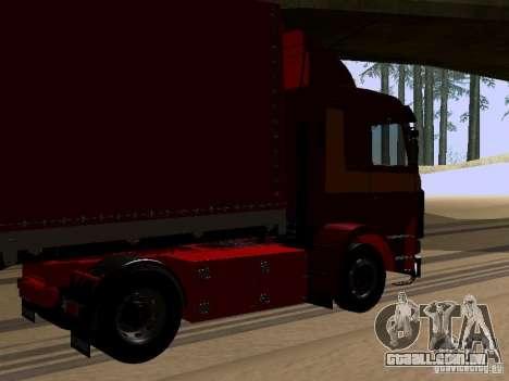 Scania 143M para GTA San Andreas traseira esquerda vista