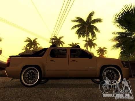 Chevrolet Avalanche Tuning para GTA San Andreas vista direita