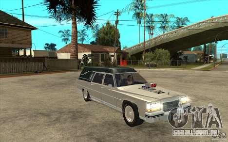 Cadillac Fleetwood 1985 Hearse Tuned para GTA San Andreas vista traseira