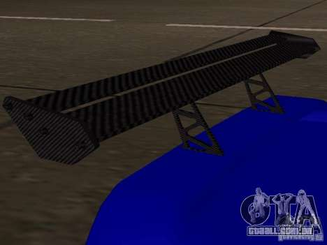 Infernus v 1.2 para GTA San Andreas vista traseira