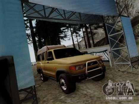 UAZ 2760 para GTA San Andreas traseira esquerda vista