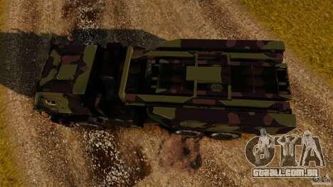 M142 HIMARS para GTA 4 vista direita