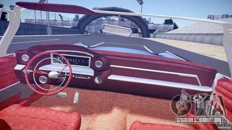 Cadillac Eldorado 1959 interior red para GTA 4 vista inferior
