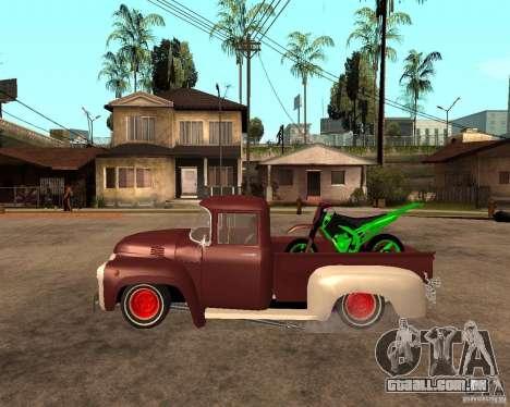 ZIL 130 Tempe ardente Final para GTA San Andreas esquerda vista